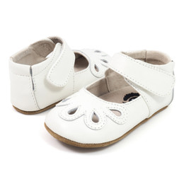 Livie & Luca Petal Baby Shoes - Milk