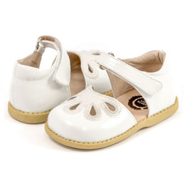 Livie & Luca Petal Shoes - White Patent