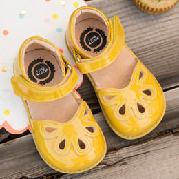 Livie & Luca Petal Shoes - Yellow Patent