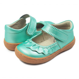 Livie & Luca Ruche Shoes - Aqua Shimmer