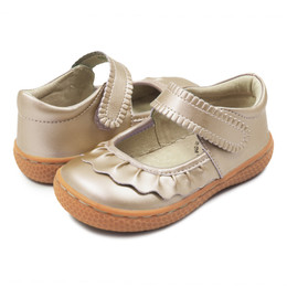 Livie & Luca Ruche Shoes - Champagne