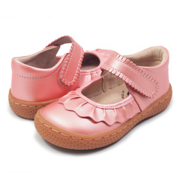 Livie & Luca Ruche Shoes - Guava Shimmer