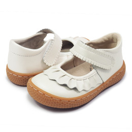 Livie & Luca Ruche Shoes - White Pearl