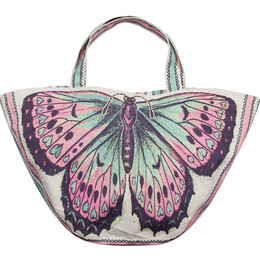 Paper Wings Vintage Butterfly Tote Bag