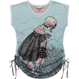 Paper Wings Meadow Girl Drawstring Tee Dress