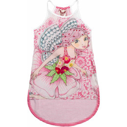 Paper Wings Pink Fairy Racer Back Singlet Dress