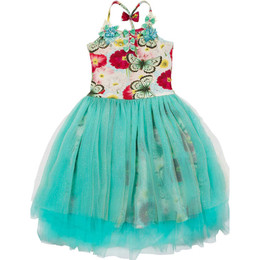 Paper Wings Butterfly Floral Long Tutu Dress