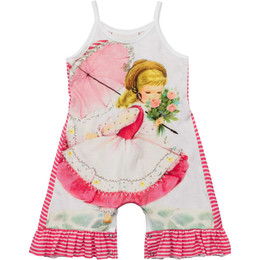 Paper Wings Flower Girl Frilled Romper