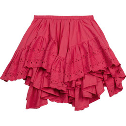 Paper Wings Frilled Lace Skirt - Rose Pink