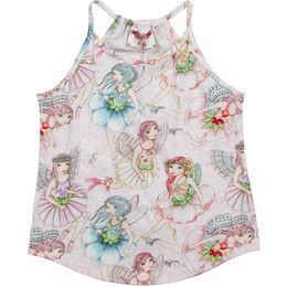 Paper Wings Flower Fairies Racer Back Singlet