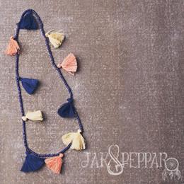 Jak & Peppar Starlight Wanderer Tassel By Tassel Necklace - Orchid Tangerine (Del 1)