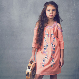 Jak & Peppar Starlight Wanderer Boho Jane Dress - Tangerine (Del 1)
