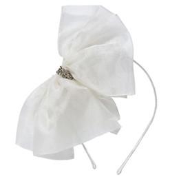 Tutu Du Monde Desert Daze Alice Bow Silk Organza Headband - Milk