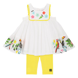 Deux Par Deux Jungle Pop 2pc Dress Set
