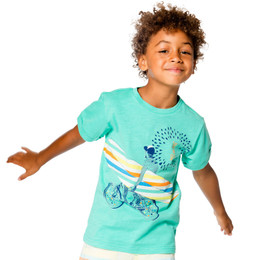 Deux Par Deux Surf Away Printed Tee