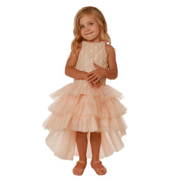 Ooh La La Couture Chloe Dress - Champagne / Pink Champagne
