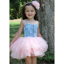 Ooh La La Couture Denim Bodice Dress - Pink Parfait