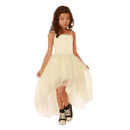 Ooh La La Couture Crystal Kylee Dress - Champagne