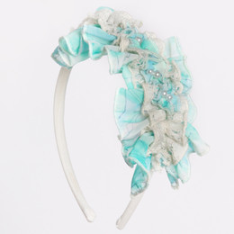 Isobella & Chloe Sea Swirls Headband - Aqua