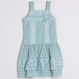 Isobella & Chloe June Bug Drop Waist Dress - Light Blue