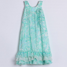 Isobella & Chloe Sea Swirls Dress - Aqua