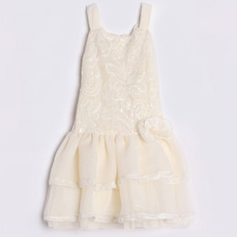 Isobella & Chloe Pearl Drop Waist Dress - Ivory