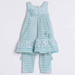 Isobella & Chloe June Bug 2pc Set - Light Blue