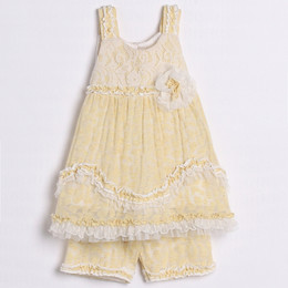 Isobella & Chloe Marigolds 2pc Set - Yellow