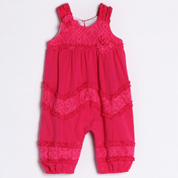 Isobella & Chloe Raspberry Delight Romper - Hot Pink