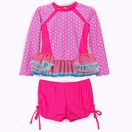 Isobella & Chloe Candilicious 2pc Rashguard Swimsuit - Magenta
