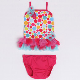 Isobella & Chloe Gumball Drop 2pc Tankini Swimsuit - Multi
