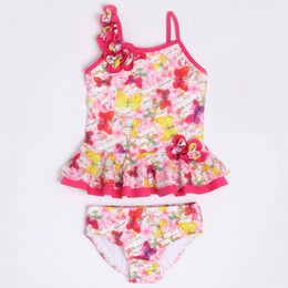 Isobella & Chloe Butterfly Kisses 2pc Tankini Swimsuit - Magenta