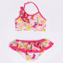 Isobella & Chloe Butterfly Kisses 2pc Skirted Bikini Swimsuit - Magenta