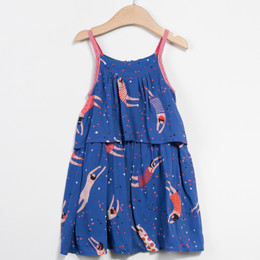 Catimini Paris Est Une Fete Graphic City Dress - Bleu