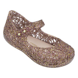 Mini Melissa Campana Zig Zag VI Shoes - Mixed Pink Glitter