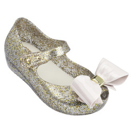 Mini Melissa Ultragirl VIII Shoes - Mixed Gold Glitter