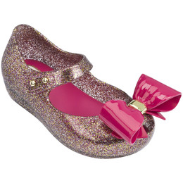 Mini Melissa Ultragirl VIII Shoes - Mixed Fuchsia Glitter