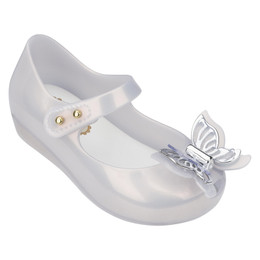 Mini Melissa Ultragirl Fly Shoes - Silver Pearl