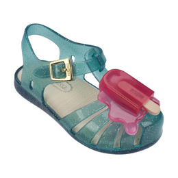 Mini Melissa Aranha VIII Sandals - Blue Glitter