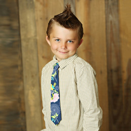 Mustard Pie Secret Garden Boy's Neck Tie