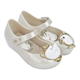 Mini Melissa Ultragirl Beauty and The Beast Shoes - Pearl