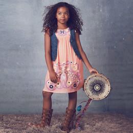 Jak & Peppar Starlight Wanderer Flower Child Dress - Tangerine (Del 2)