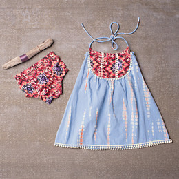 Jak & Peppar Starlight Wanderer Gypsy Dress Set - Dazed Spa Blue (Del 2)