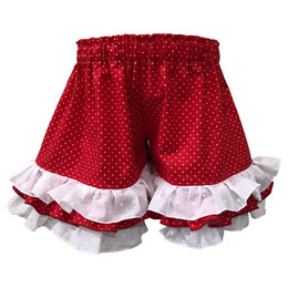 Persnickety Bushel & A Peck Felicity Short - Red Dots