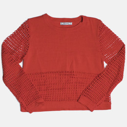 Mayoral Openwork Netting Sweater - Watermelon