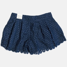 Mayoral Guipure Lace Shorts - Navy
