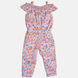 Mayoral Floral Printed Romper - Flamingo
