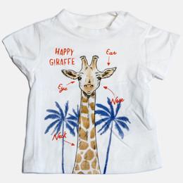 Mayoral Hapy Giraffe S/S Tshirt - White