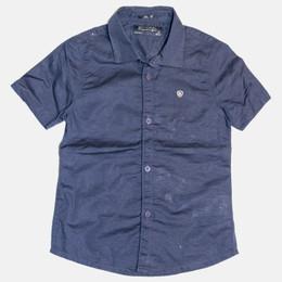Mayoral Linen Buttondown S/S Shirt - Navy