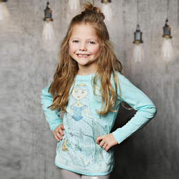 Lemon Loves Lime Winter Princess Tee - Blue Tint
